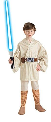 Luke Skywalker Kostüm Kinder Gr. 116-146, (Kind Skywalker Kostüme Luke Wars Star)