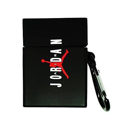 Airpod-Schutzhülle, kompatibel mit vollständiger Schutz, weiches Gummi, Premiumqualität, Silikon TPU 2109, Fashion Schlüsselanhänger Jordan Basketball Trikot Kopfhörer inspiriert, Box