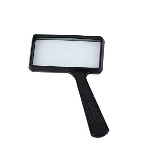 Schwarz leichte Exquisite Verarbeitung und ausgezeichnete Arbeit 4 x rechteckige Handheld große Lesung Lupe Lupe