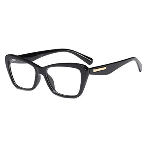 Huicai Mode Retro Weibliche Nerd Brille Platz Großen Rahmen Große Transparente Linse Lesen Alten Spiegelrahmen Gläser