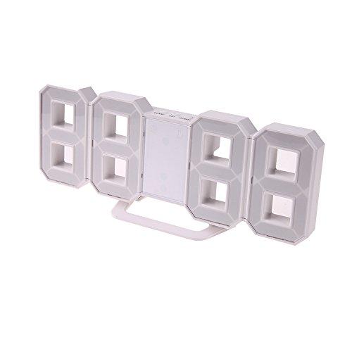 Preisvergleich Produktbild HzxlT LED-Wecker Tisch Tisch Digitaluhr LED-Wanduhren 24 Oder 12-Stunden-Display Wand- und Tischuhr