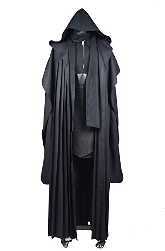 CosDaddy Herren Cosplay Tunika Robe uniform Cosplay leinen Version Schwarz XXL-Men