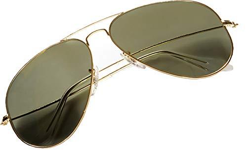 4sold Sonnenbrille in vielen Farbkombinationen Klassische Brille Unisex Sonnenbrille (Schwarzes Gold)