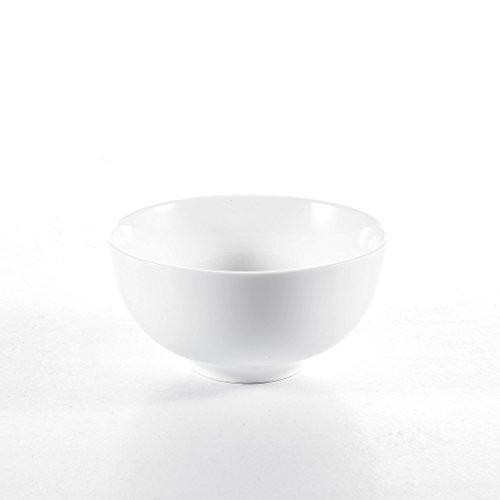 Malacasa Série Regular, 8pcs Bol Porcelaine Bol à Céréales Soupe Riz Vaisselles Céramique Blanc Service de Table 4.5\\