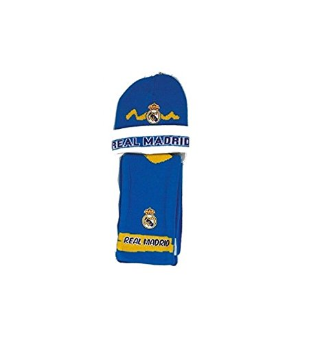 Set Real Madrid bufanda+gorro lana