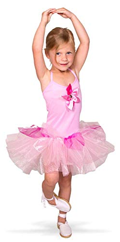 Folat 21865 Tutu-Ballerina-Hemd, Größe 98-116, rosa (Ballerina Kleid Kostüm)