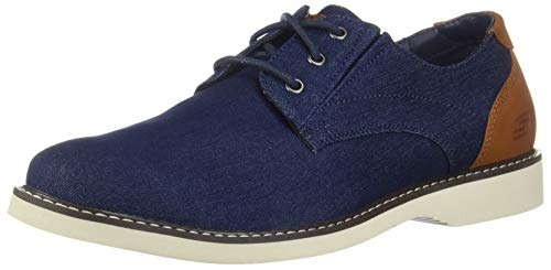 Skechers Parton-Wilcon Canvas Oxford Herren, Blau (Den), 47 EU M Casual Canvas Oxford
