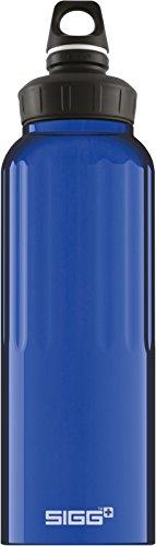 Sigg WMB Traveller Dark Blue, Wandern Trinkflasche, 1.5 L, BPA Frei, Aluminium, Blau