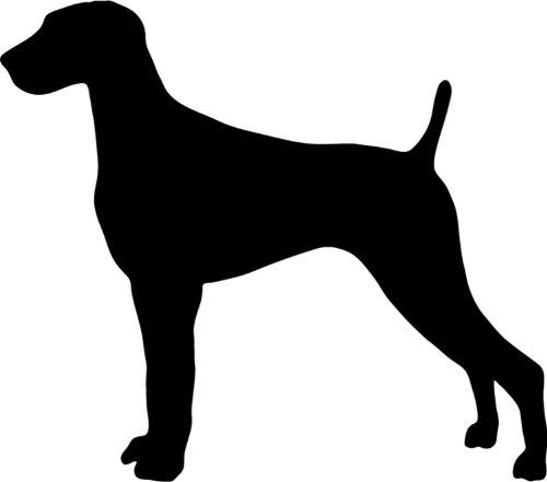 Weimaraner - Hundeaufkleber - Farbe und Umrandung oder Text wählbar - Dog Sticker -