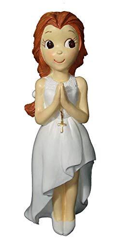 Statuetta per torta torta con treccia prima comunione bimba - statuette di torta per comunione bimbe economiche e originali