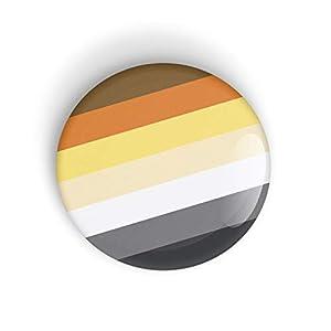 1 x Bear Pride Flag Anstecknadel oder Magnet, WÄHLEN SIE AUS 3 GRÖSSEN