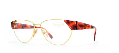 Missoni Damen Brillengestell Gold Gold Red