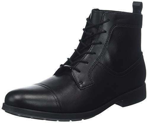 Geox Herren U HILSTONE Wide NP ABX C Klassische Stiefel, Schwarz (Black C9999), 44 EU