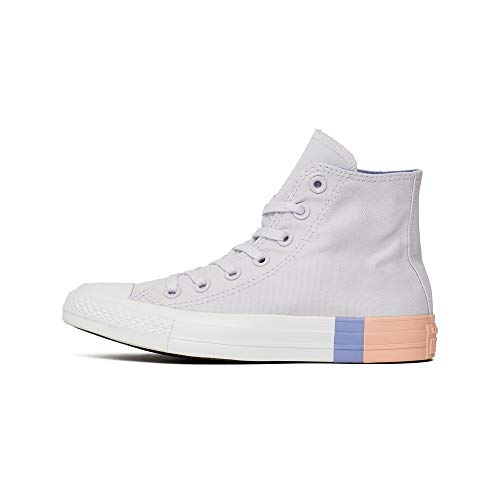 Converse Unisex-Kinder Chuck Taylor CTAS Hi Canvas Fitnessschuhe, Pink (Barely Grape/Twilight Pulse 551), 36.5 EU (Kinder Converse Pink)
