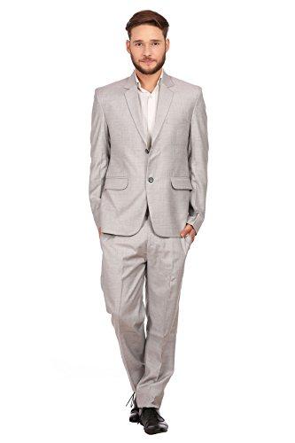 Wintage Herren Leinen Wolle Blend Zwei Knopf Kerbe Revers 2-Stück Anzug: 5XL (Stück Leinen-anzug 2)