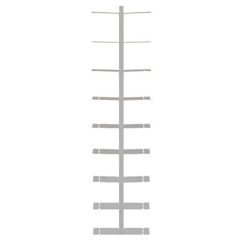 booksbaum double wand gross silber, 2tlg. best.aus: Halterung + Einlegeböden
