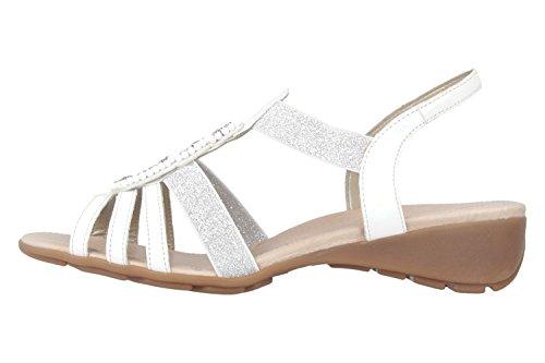 Remonte - R5250 40, sandali  da donna Bianco(Blanc)