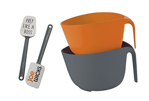Joe Wicks 66259 Food Prep Gadgets 3pc Strain/Mix and Spatula Set, Multi-Colour