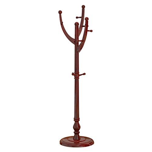 SKC Lighting-Porte-manteau Couvre-meuble en bois massif Chambre moderne simple accrochée Rangement étagères étagères maison (Couleur : Mahogany color)