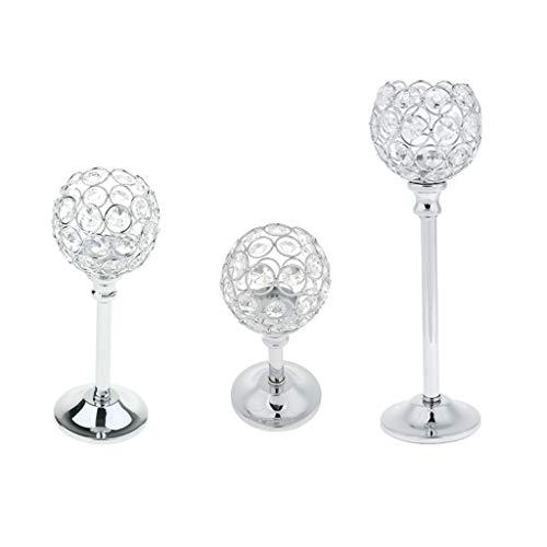 Homyl 3 Piezas Candelero Cristal Mosaico Portavelas