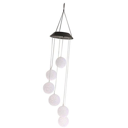 Sharplace Windspiel LED Solarleuchte Solarlampe Farbwechsel Gartenleuchte Hause Garten Dekoration - Bälle