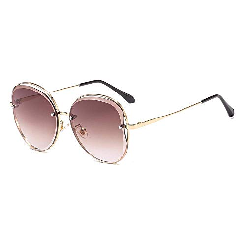 WYJW Sonnenbrillen Fashion Sonnenbrillen Frameless Edge-Cutting Lady 's Circle Anti-UV