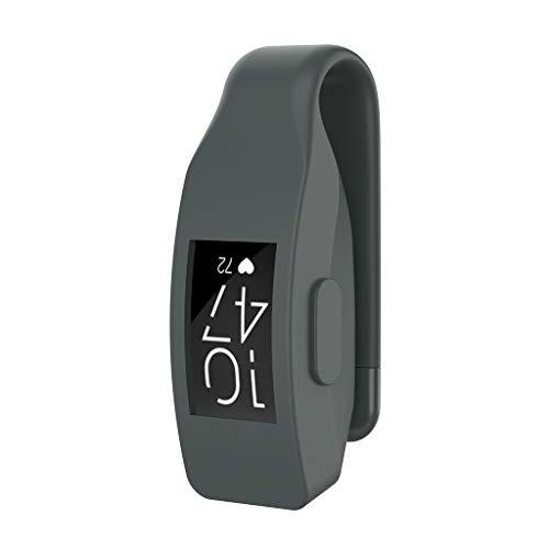 WARMWORD 10 Farben für Fitbit Inspire/Inspire HR-Bänder mit sicherem Uhrverschluss Silikon-Ersatzbänder für Fitbit Inspire/Inspire HR (Grau)