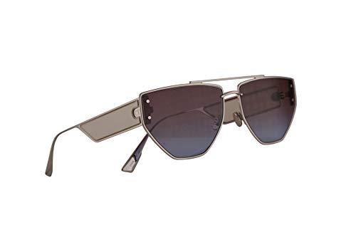 Christian Dior DiorClan2 Sonnenbrille Silber Mit Blau Roten Gläsern 61mm 010YB Clan 2 Clan2
