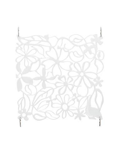 showking Separador de habitación Lucie, Flores, Blanco, Set de 4, 30c
