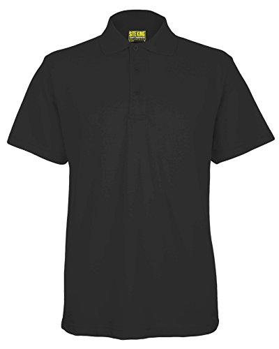 SITE KING Mens Premium Work Short Sleeve Polo T Shirts