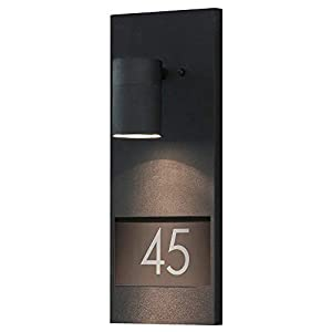 Konstsmide 7655-750 Modena House Number Down Light / Matt Black