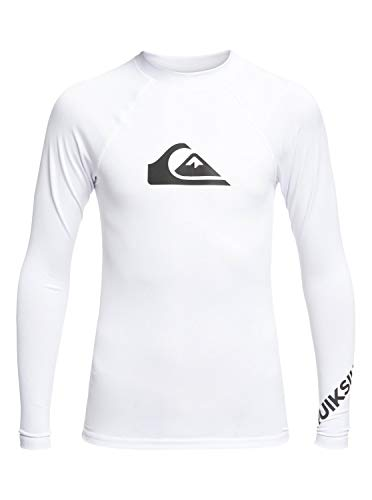 Quiksilver Jungen All Time L/sl Surf Tee, White, M/12 -