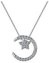 Mond Charms Sterlingsilber 925er -Silver Horns Eleganter Silberanhänger