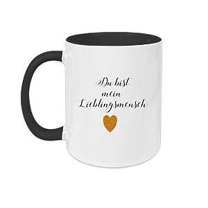 Keramik-Tasse mit Spruch LIEBLINGSMENSCH und Namen