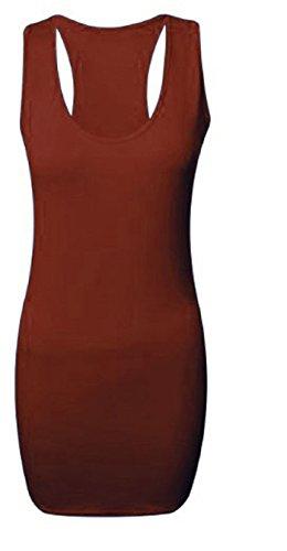 Generic - Débardeur - Moulante - Sans Manche - Femme Multicolore Bigarré Taille Unique Bordeaux