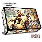 The Army Painter Guildball Miniature Paints, Army Paint Set de 16 cuentagotas para miniaturas de Guild Ball Board Game - Guild Ball Kick Off Paint Set