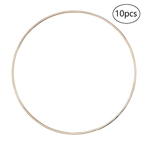 Healifty 10 Stücke Metallringe Metall Hoops für Traumfänger DIY Handwerk 16cm (Golden)