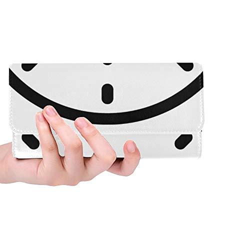 Einzigartige benutzerdefinierte Uhr Symbol Frauen Trifold Wallet Lange Geldbörse Kreditkarteninhaber Fall Handtasche -