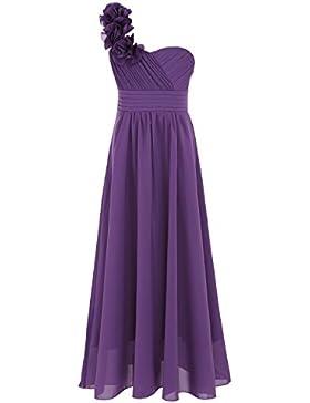 Freebily Kinder Blumenmädchen Kleid Ein Schultergurt Kleid Bustierkleid Abendkleid Festlich Hochzeit Festzug Kleidung...