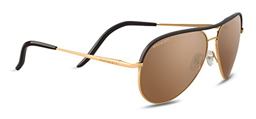 Serengeti Eyewear Erwachsene Carrara Sonnenbrille, Shiny Bold Gold, Medium