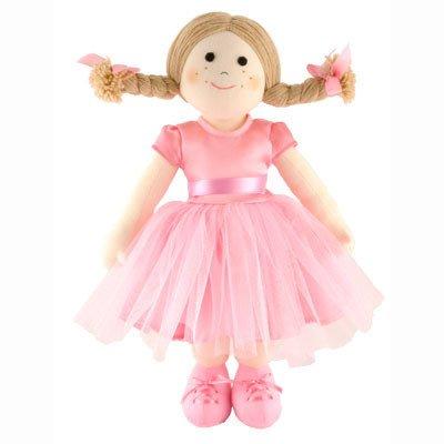 Ballerina Stoffpuppe auf fairem Handel, handgemacht (Doll Soft Ballerina)