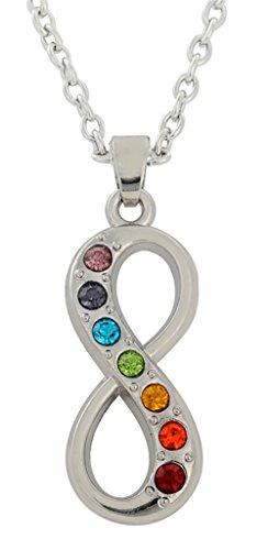 Collar de Metal con Colgante de Mandala de 7 Chakras con símbolo de Infinito religioso para Mujer y Hombre