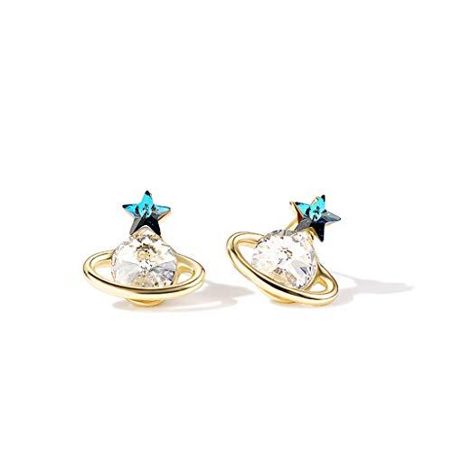 Lan chen orecchini saturno orecchini femminili piccoli orecchini temperamento coreano orecchini stella personalità orecchini compatti mini temperamento