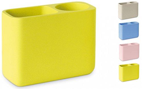 sanwood-organizer-mia-gelb-praktischer-stift-und-utensilienhalter-mit-zwei-kompartimenten-zahnputzbe