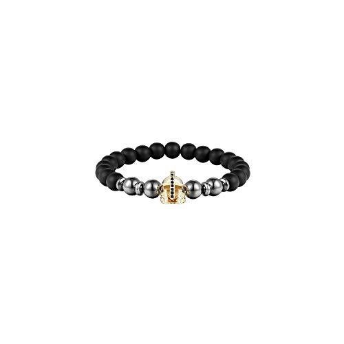 Awertaweyt Edelstein Perlen Armband 8Mm Ball Disco Charm Women Bracelet 8Mm Matt Stone Bead Bracelet Men's Jewelry Natural Pearl BraceletABCDEFFor Men AS315 20cm