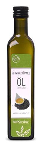 bioKontor // BIO Schwarzkümmelöl ägyptisch - nativ, kaltgepresst, 100% rein - 500 ml (Schwarzkümmel öl Bio)