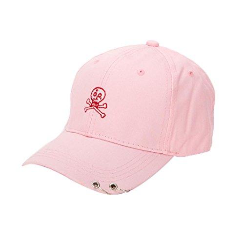 Rawdah El verano de la mujer esqueleto Golf sombrero ajustable bordado Gorra de béisbol (Rosa)