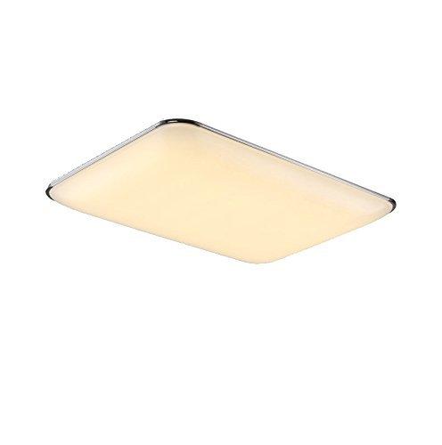Natsen 80W LED Deckenlampe Deckenleuchte voll dimmbar mit Fernbedienung für Kinderzimmer Wohnzimmer Büro Küche Silber 920 x 650 x 90mm [Energieklasse A++] -