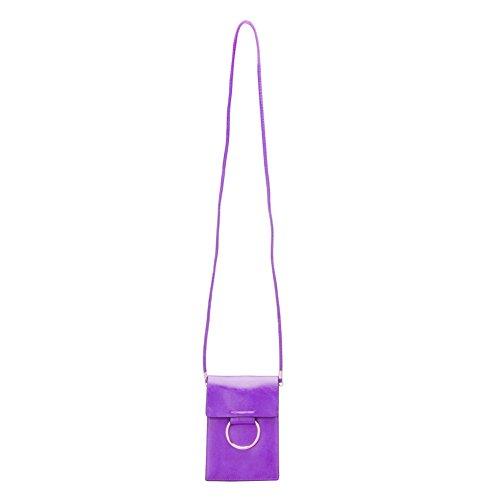 Cellulare Pouch Bag con Tracolla Rimovibile, Fukalu Multifunzionale del Telefono Cellulare Crossbody Pouch della Borsa a Mano per iphone 6 / 6S Plus, Samsung Galaxy Note 7/6 e Smartphone in 5,5 pollic Viola