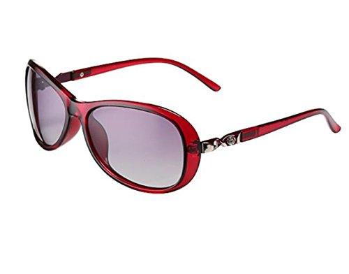 SHULING Sonnenbrille Die Neue Kleine Offset Optische Sonnenbrille, Die Kleine Box Auf Der Dunklen Gläser, Red Box